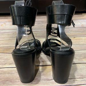 Steve Madden Shoes - Steve Madden leather ankle wrap sandals heels